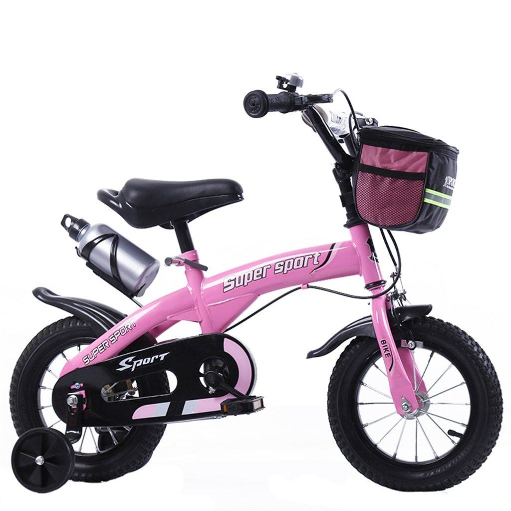 KANGR-子ども用自転車 子供用自転車アウトドアマウンテンバイク2-3-6-8ボーイズとガールズ子供用玩具調節可能ハンドルバー/トレーニングホイール付きサドルウォーターボトルとホルダー-12 / 14/16/18インチ ( 色 : ピンク ぴんく , サイズ さいず : 14 inch ) B07BTWW9TG 14 inch ピンク ぴんく ピンク ぴんく 14 inch