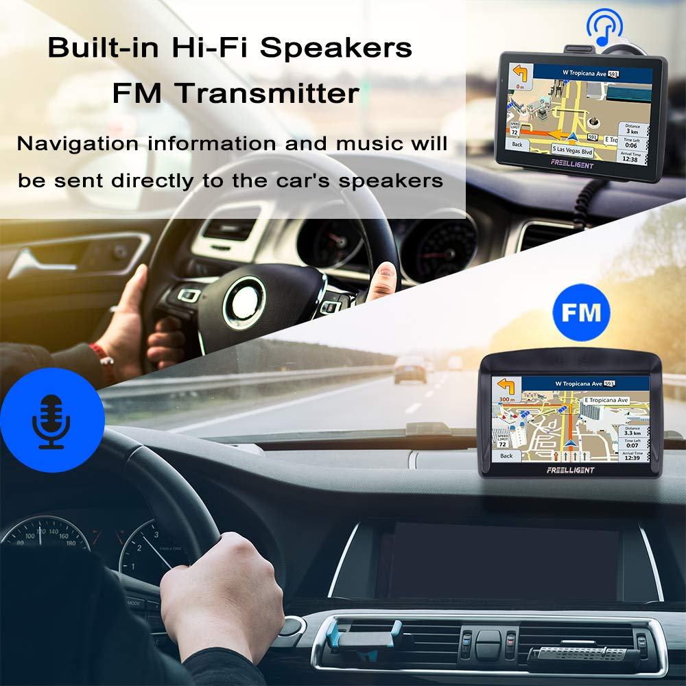 7 Inch GPS Navigation Includes Postcodes Pre-lnstalled UK and EU 2019 Latest Maps Free Lifetime Updates Sat Nav for Car Speed Camera Alerts /& POI Lane Assistance