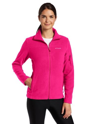 Columbia Women's Fast Trek Ii Full Zip Fleece Jacket, Deep Blush, L
