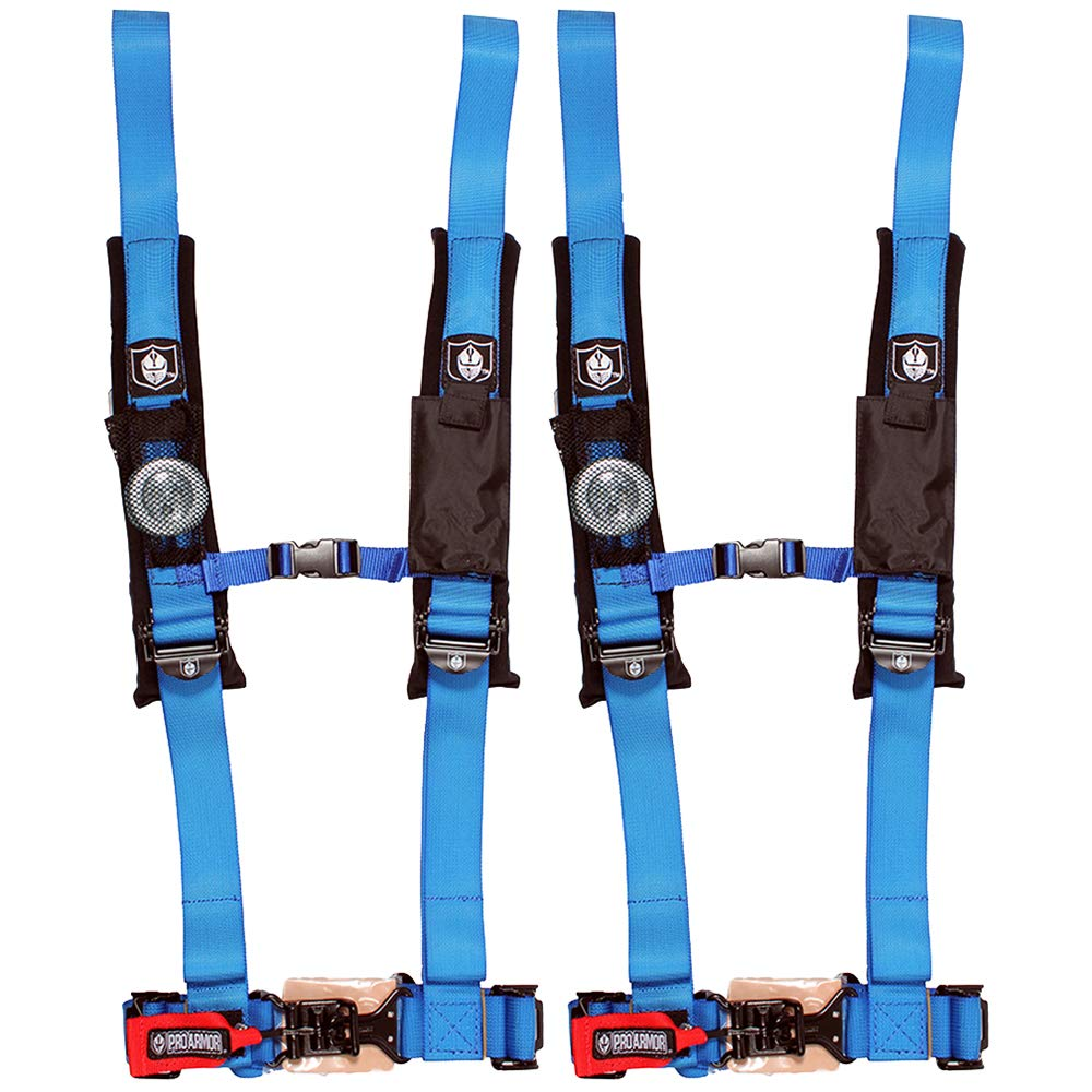 Pro Armor A114220VB Voodoo Blue 4-Point Harness 2'' Straps 2 Pack