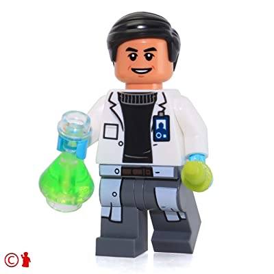 LEGO Jurassic World Minifigure - Doctor Wu (with Erlenmeyer Flask and Syringe) 75919: Toys & Games