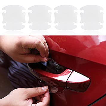 4PC Car Door Handle Films Sticker Protector Anti Scratch Protect Accessories
