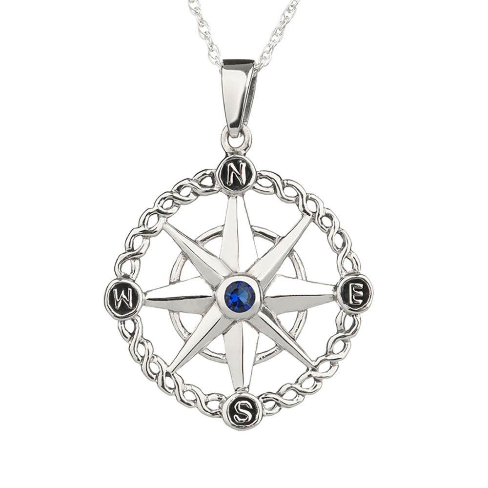 Outlander Kompass aus Sterling Silber Handgefertigt in Schottland Voyager