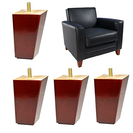 4x Wood Furniture Legs Replacement 4 Inches Ikea Sofa Feet Couch