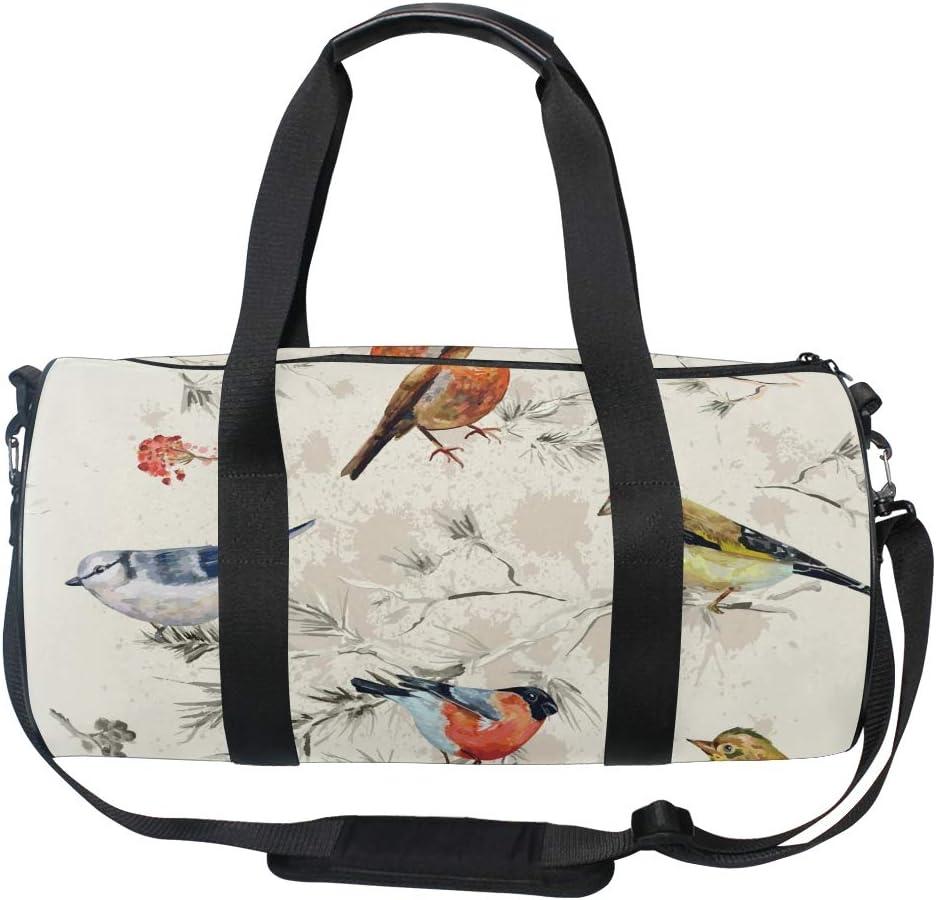 MALPLENA Birds In Branch Drum gym duffel bag women Travel Bag