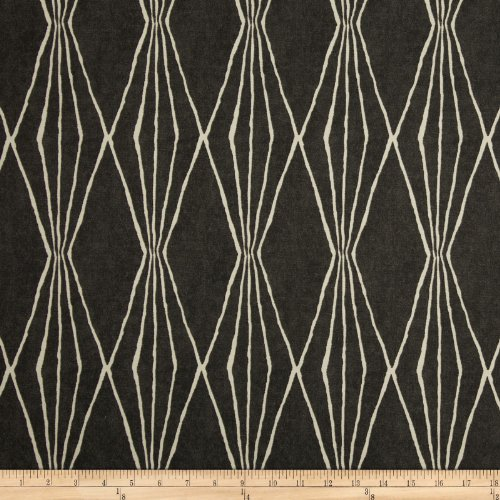 Robert Allen Home Handcut Shapes Charcoal Fabric By The - Upholstery Fabric Decor