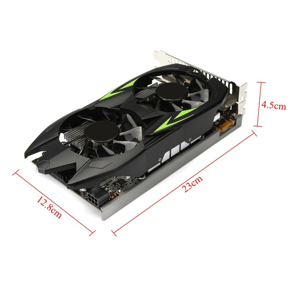 Clearence!! Gaming Graphic Card 3GB GTX660TI 3GB GDDR5 192bit VGA DVI HDMI Graphics Card with Fan (Black) by Saingace (Image #5)