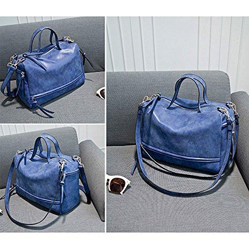 body Blue Dark Mufly Purse Women Cross Bag Dark Blue handle PU Top tqtUnAxPw