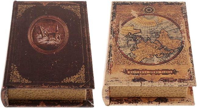 Amazon.es: F Fityle 2 Unids Libros Decorativos Accesorios De Simulación Libro con Secreto Compartimiento Oculto Caja De Seguridad para Ocultar Joyas Dinero para La Oficin: Juguetes y juegos