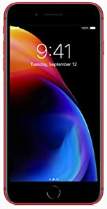 Apple iPhone 8 Plus, 64GB, Red - For AT&T (Renewed)