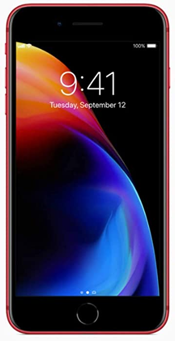 Apple iPhone 8 Plus, 64GB, Red - Fully Unlocked (Renewed)