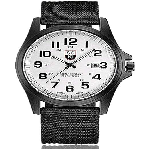 Liquidación Venta calienteSmart Reloj Mujer Cebbay38MM Moda Correa de Nylon Reloj de Cuarzo analógico Ronda Pareja (Blanco): Amazon.es: Relojes