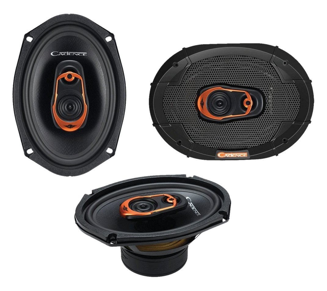 Cadence QRS69 500W 6x9 3-Way QSR Series Coaxial Car Speakers by Cadence B00MQ8G6P2