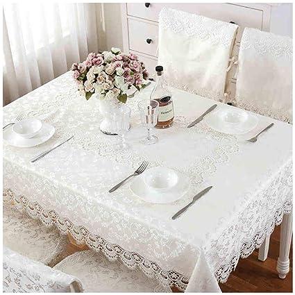 Amazon Com Smc European Lace Embroidered Fabric White Table Cloth