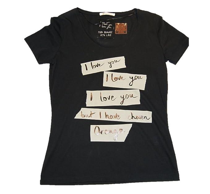 Hugo Boss - Camiseta - para mujer Negro negro X-Small: Amazon.es: Ropa y accesorios