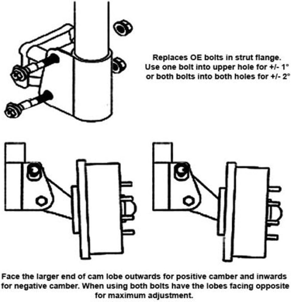 Adjustable Camber Alignment Cam Bolt Kit For PONTIAC G3 G5 G6 GRAND AM FIREFLY