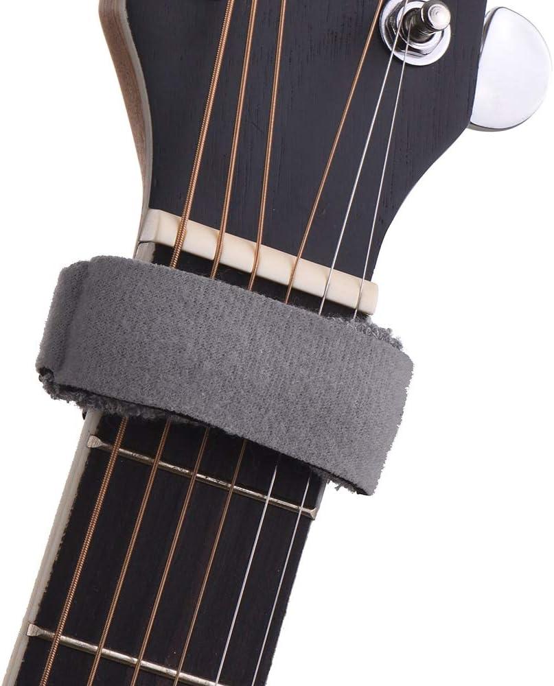 Guitarra Fretwraps Cuerdas Mute Muter diapasón Muting Wraps para 7 cuerdas acústica clásica bajo de guitarra