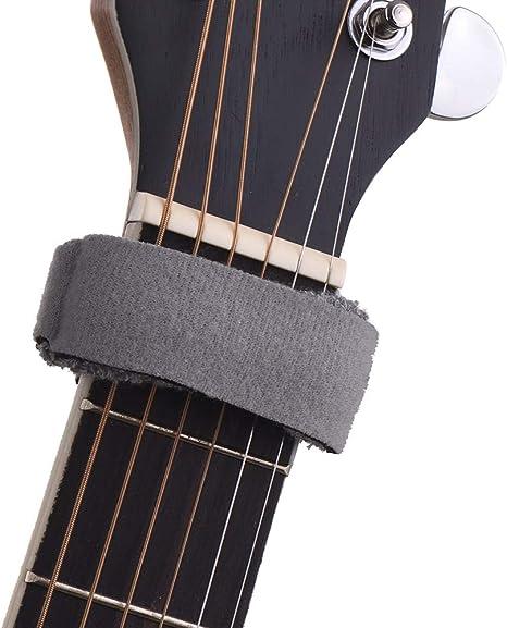 Guitarra Fretwraps Cuerdas Mute Muter diapasón Muting Wraps para 7 ...