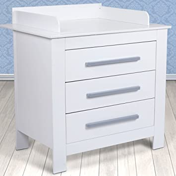 Infantastic Baby Changing Unit White Nursery Furniture Chest  Drawers Storage Space