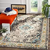 Safavieh Monaco Collection MNC243G Vintage Oriental Grey and Light Blue Distressed Area Rug (3′ x 5′)