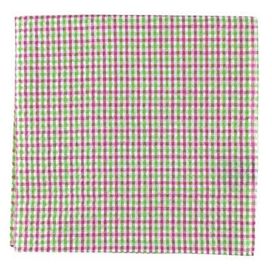 The Tie Bar Spring Seersucker Gingham 100/% Cotton Pocket Square