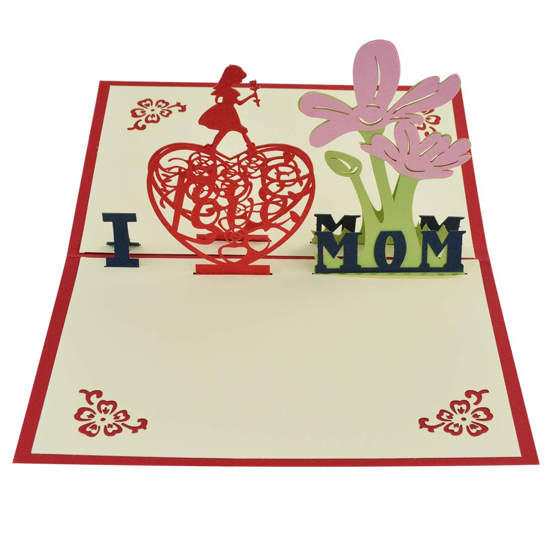 Tongcloud Mother's Day Cards, 3D cards with Envelope Sticker for Mother's Day,Mother's Gifts Special Event Greetings from Son, Daughter