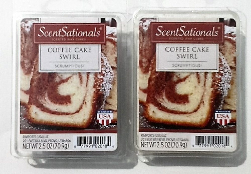 Coffee Cake Swirl Scented Wax Cubes - Two (2) Packs (2.5 oz each)