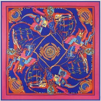 LYDHWK Bufandas Cuadradas de Seda España Patrón de Cadena Estampado Suave Fular Fular Chales Bufanda Mujeres Hijab Gran pañuelo Azul: Amazon.es: Deportes y aire libre