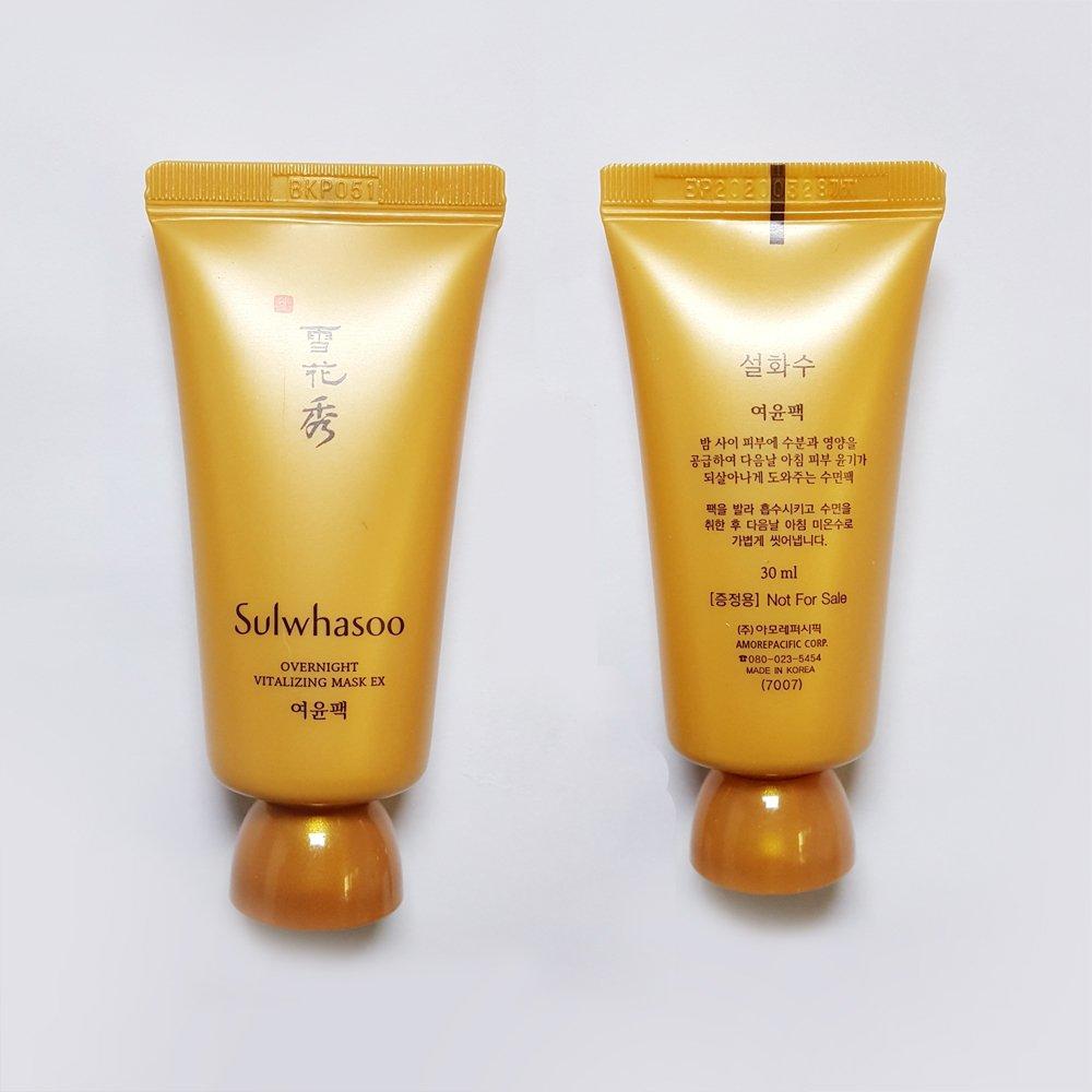 Sulwhasoo Overnight Vitalizing Mask Ex 30ml X 4pcs Water Sleeping Laneige Sampel 4ml 120ml Sample Amore Pacific Beauty
