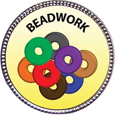 Keepsake Awards Beadwork Award, 1 inch Dia Silver Pin Creative Arts and Hobbies Collection: Toys & Games