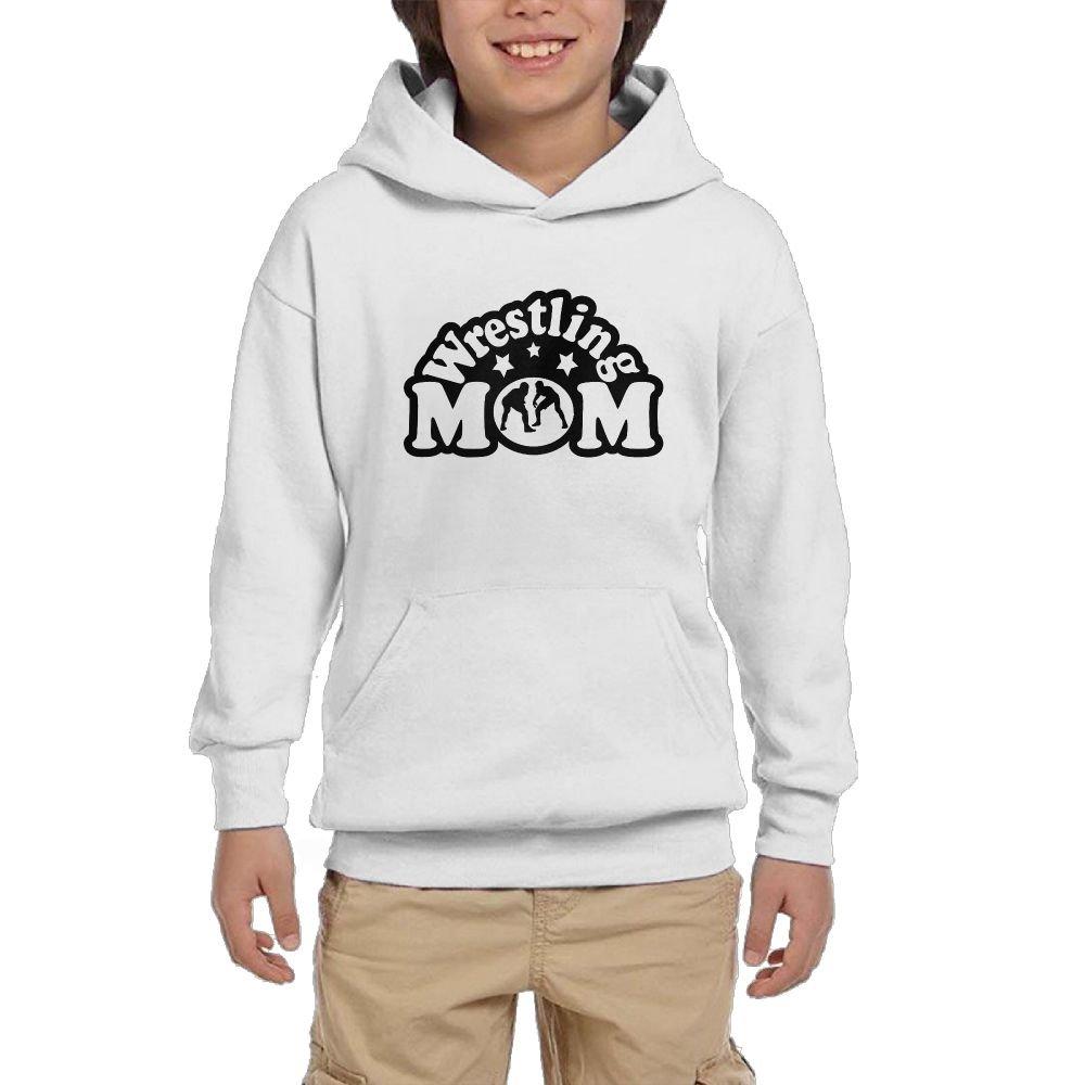LOVWEBABY Wrestling Mom Unisex Teenage Big Pockets Long Sleeve Pullover Hoodie Sweatshirts by LOVWEBABY