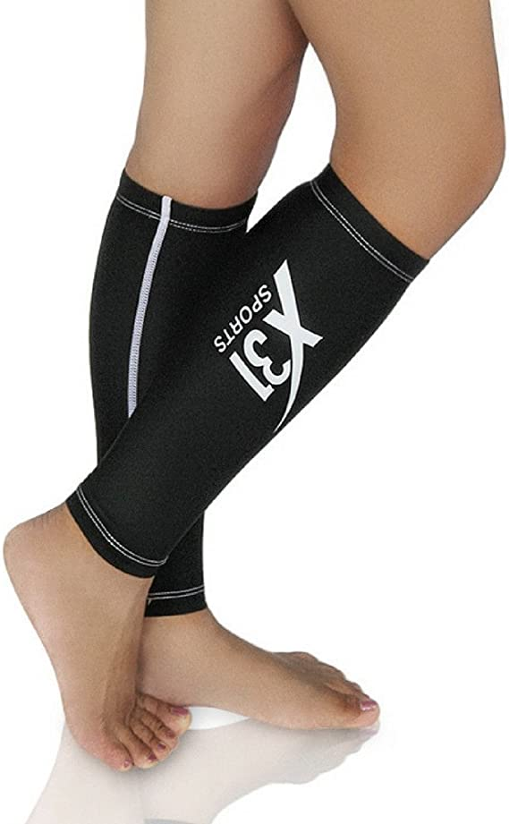FDX Cycling//Running Compression calf guard leg warmer Sports support base layer