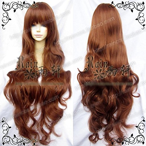 Smile APH /angel sanctuary 100cm long curled brown cosplay (Fairy Tail Angel Cosplay)