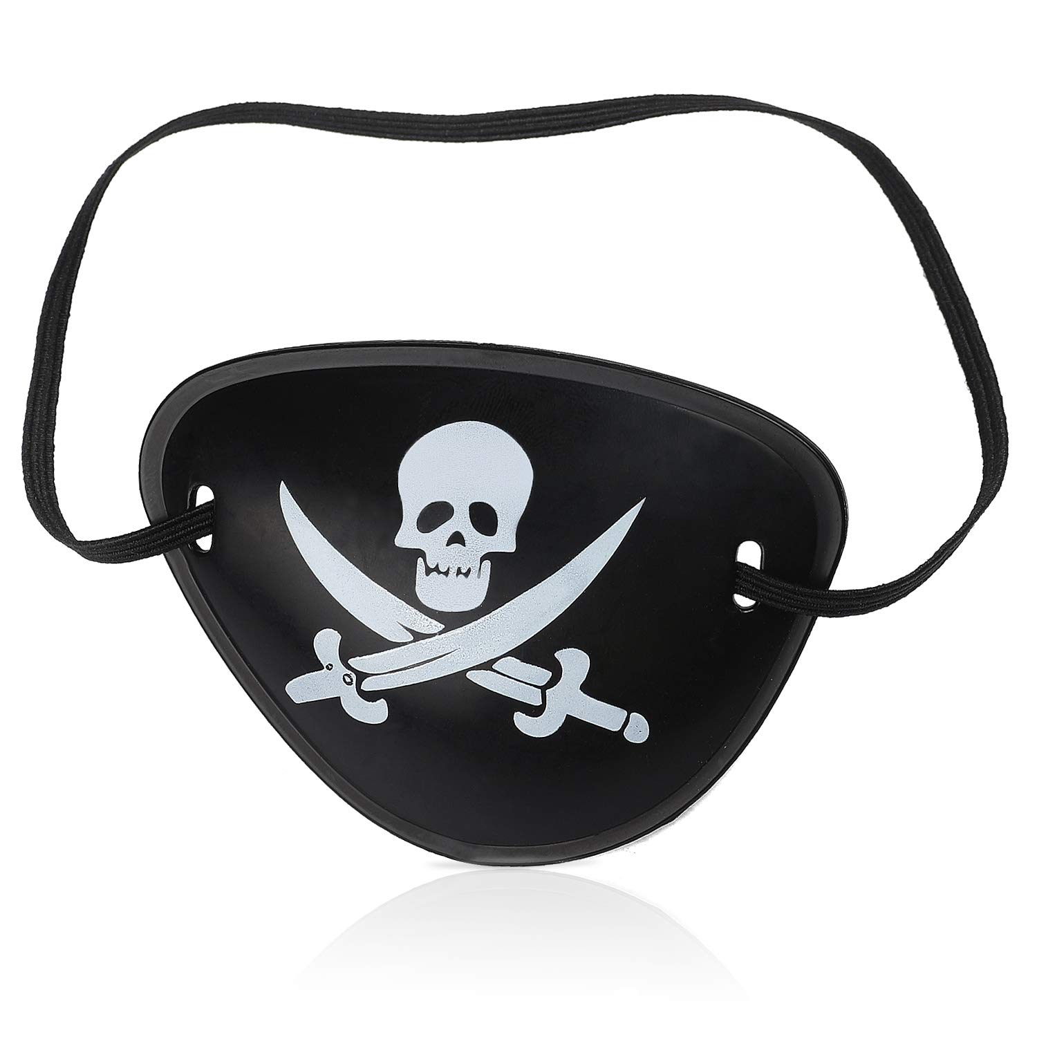 Beelittle Captain Pirate Costume Accessories Set Red Headband Pirate Skull Eye Patch Gold Earrring Necklace