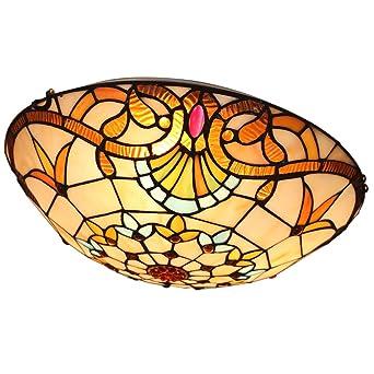 Design Decken Lampe Beleuchtung Glas gelb-orange Leuchte Wohn Ess Schlaf Zimmer