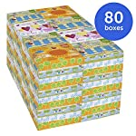 .Kleenex Professional Facial Tissue for Business (21195), Flat Tissue Boxes, 80 Junior Boxes/Case, 40 Tissues/Box