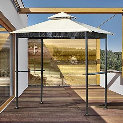 Sunjoy 8 x 5 ft. Mimbre Parrilla Gazebo: Amazon.es: Jardín