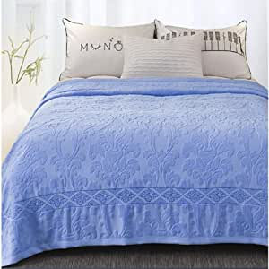 COPPER Manta de algodón, Azul Toalla Tejido de Tul Verano Manta de Aire Acondicionado Ultra Soft Manta de Toalla -Azul 150 * 200cm(59x79inch): Amazon.es: Hogar