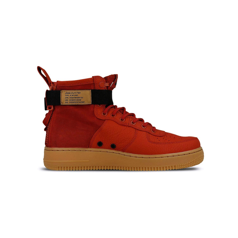 Mehrfarbig (Dune rot Dune rot schwarz Gum Med braun 600) Nike Herren Sf Af1 Mid Fitnessschuhe, Rot