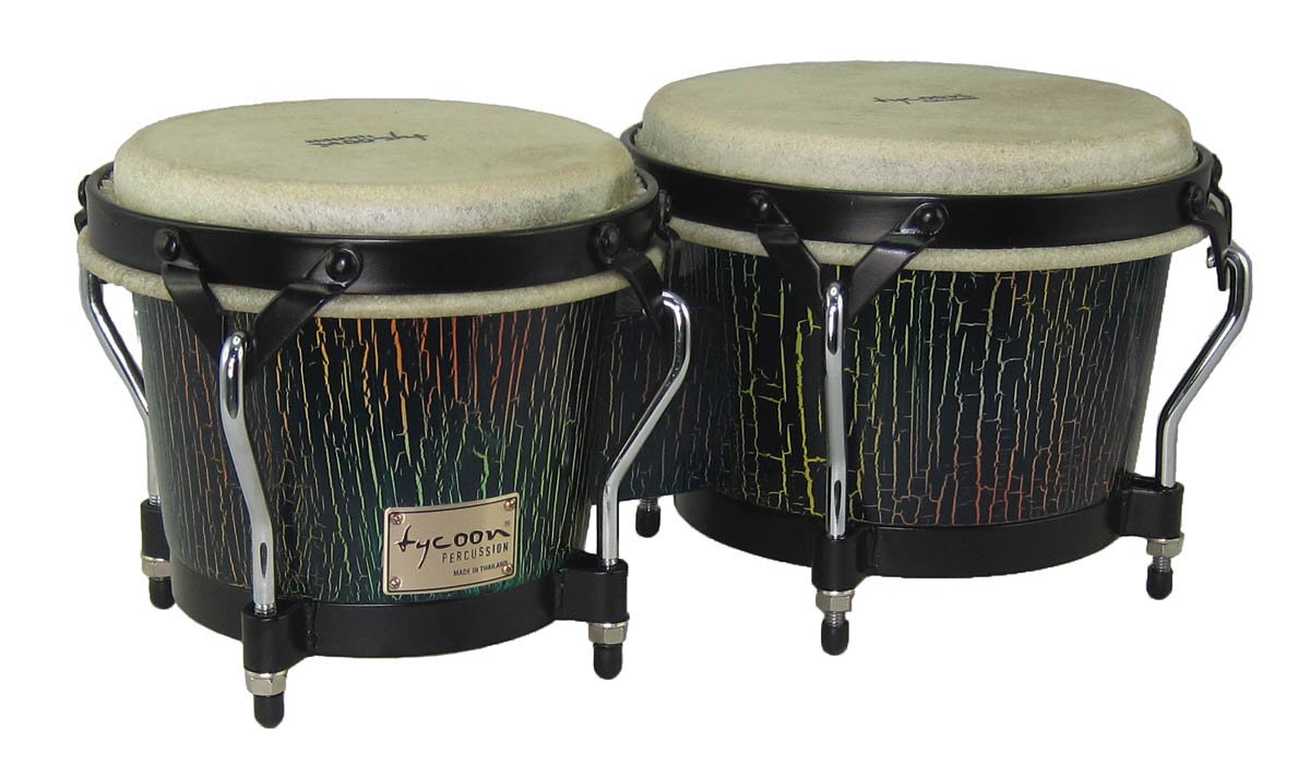 Tycoon Percussion STBS-B DI 7 and 8-1/2 Inches Supremo Series Bongos, Dark Iris Finish