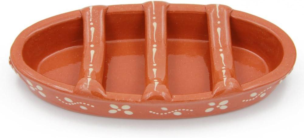 Traditional Portuguese Clay Terracotta Sausage Roaster (N. 2 Medium)