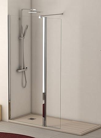 Mampara ducha BRUSELAS fijo 100 + abatible 35, tirante ext. 60-100: Amazon.es: Bricolaje y herramientas