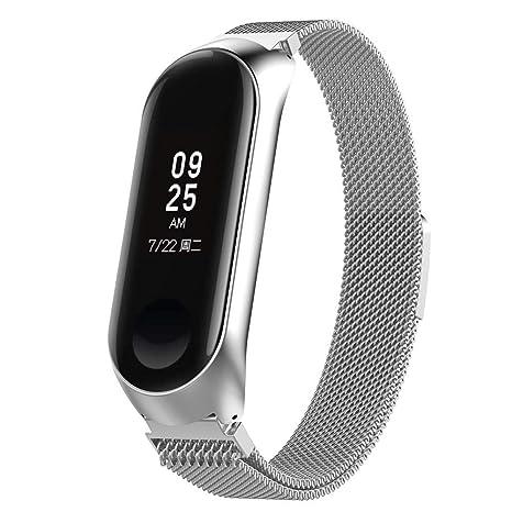 Househome La Correa, Correa Xiaomi Magnética Acero Inoxidable Correa Reloj Mi Band 3 para Xiaomi
