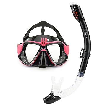 Vilisun - Máscara de buceo de silicona y PC (policarbonato) para hacer snorkel,