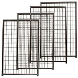 FENCEMASTER Cottageview Expansion Panels, 48 LB, Black