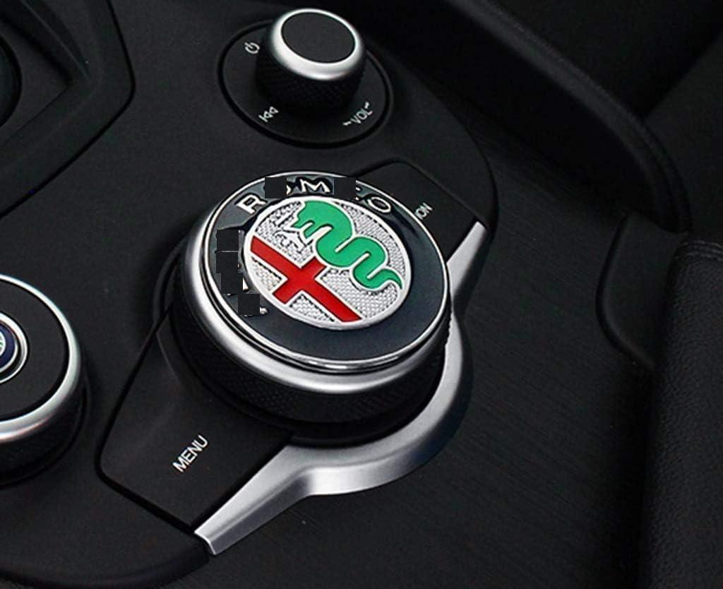Eppar New Decorative Center Control Button Sticker Compatible with ALFA Romeo Giulia 2016-2019 (A-Style)