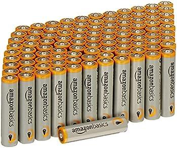 100-Pack AmazonBasics AAA Performance Alkaline Batteries