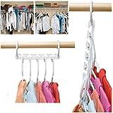Dealglad 8 Pcs Clothes Hanger Rack Portable Plastic Clothing Hook Magic Closet Cloth Organizer