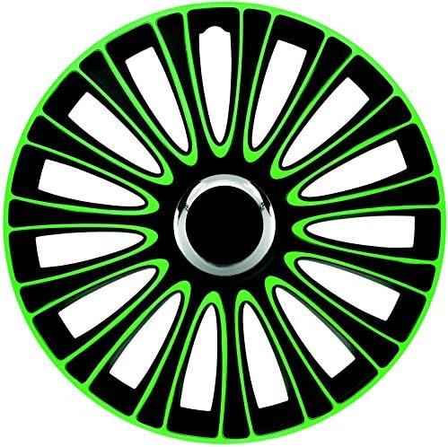 Zentimex Z733007 Radkappen Radzierblenden Universal 15 Zoll Green Black Auto