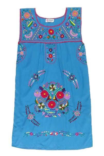 Amazon.com: Mexicano ropa Co para mujer mexicano vestido sin ...